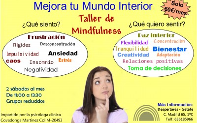 Mejora tu mundo interior. Taller Mindfulness