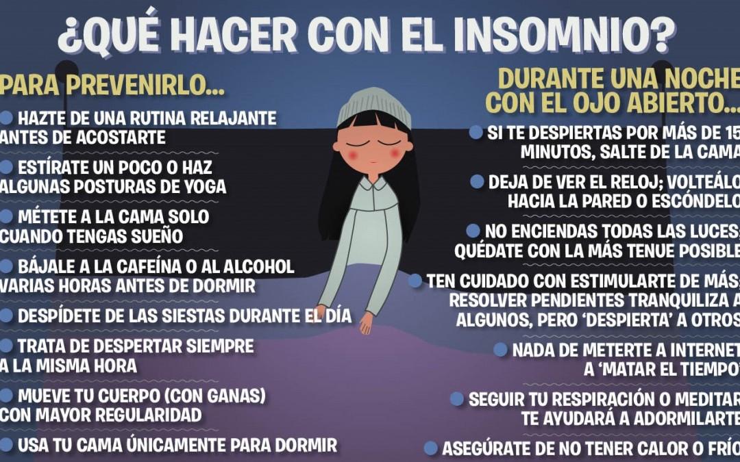 No consigo dormir bien: Pautas para combatir el insomnio